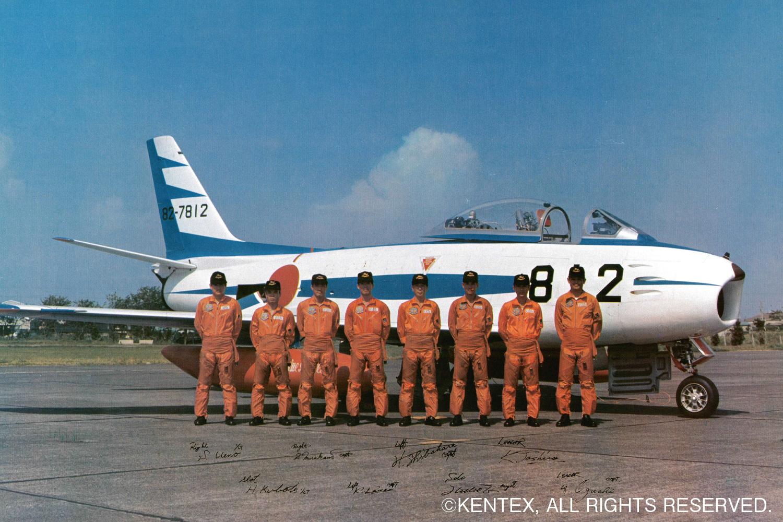 F-86Fセイバージェットとパイロット達